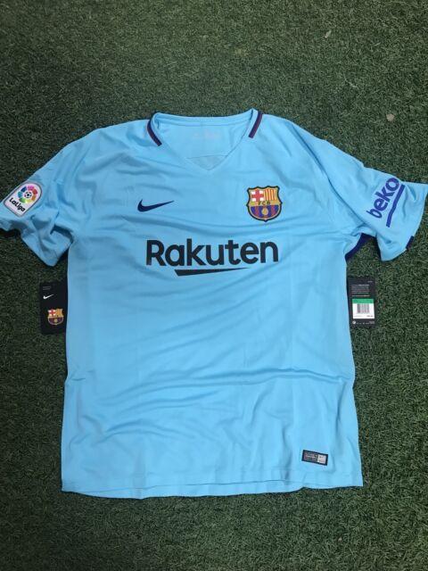 Buy Nike FC Barcelona Official 2017 2018 Away Soccer Football Jersey ... 8302eb83da1