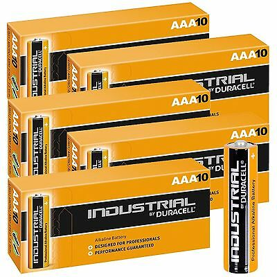 50 DURACELL PROCELL INDUSTRIAL AAA ALKALINE BATTERIES LR04, MN2400 EXP.2021