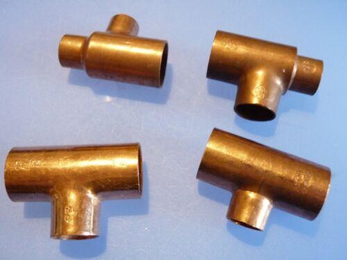 Kupferfittings Lötfitting T-Stück reduziert 22x15x15 22x15x22 22x18x22 22x18x15