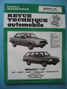 Copieux Revue Technique Automobile / Renault 18 / 1647 & 1995 Cm3