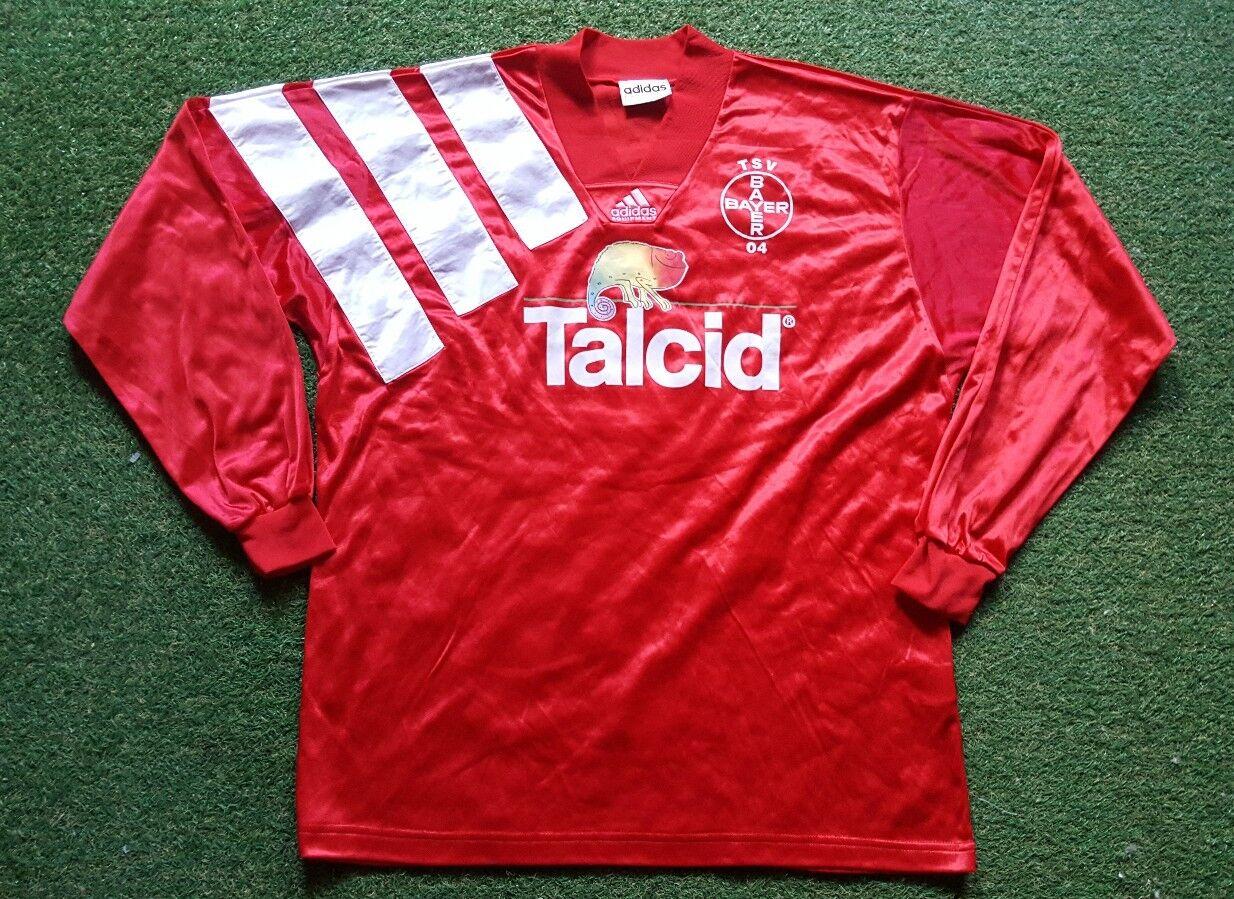 Tsv Bayer 04 Leverkusen Maglia XL 1993 1994 Talcid Adidas Calcio