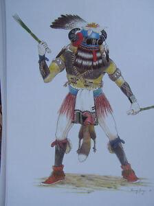Hopi Kachina print 8 by Danny Lange Southwest art   eBay  Hopi Drawings