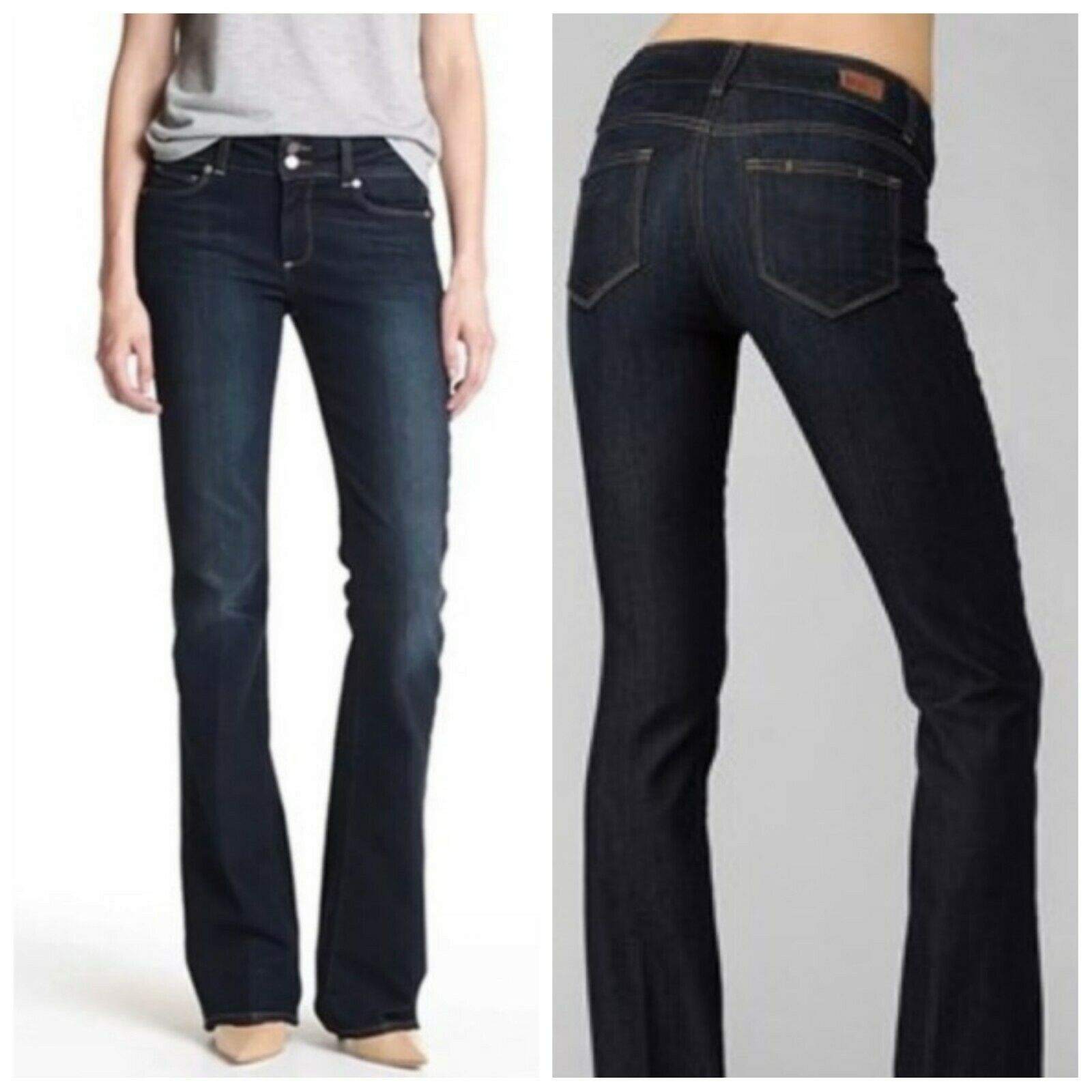 Paige Denim Hidden Hills Boot Cut Dark Wash