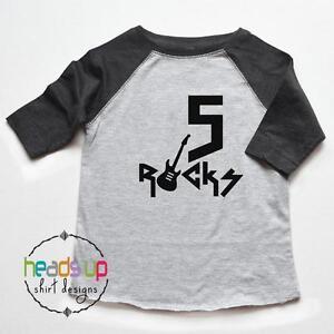 Image Is Loading 5 Birthday Shirt Raglan Toddler Boy Girl Five