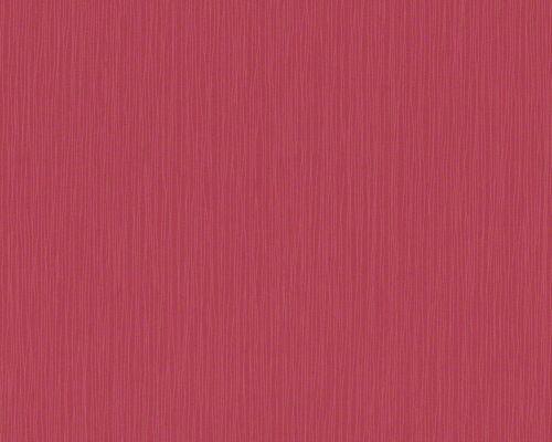 """1 Rolle schicke Vliestapete /""""Selina/"""" rot mit feiner Linien-Struktur 9608-63-b"""