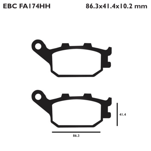 EBC FA174HH Replacement Brake Pads for Rear Suzuki GSF 1250 S Bandit ABS 07-12