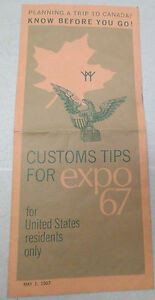 Vintage-Customs-Tips-For-Expo-67-US-Residents-Montreal-Canada-Brochure-1967