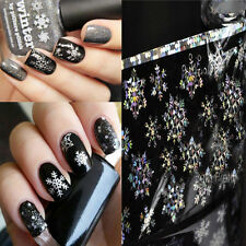 1Pc Holographic Foils Transfer Sticker Christmas Snowflake Paper Nail Art Tips