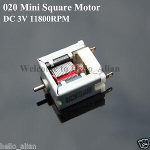 5x Miniature motors 020 small motors Square Motor DC3V 6200rpm toy motor DIY