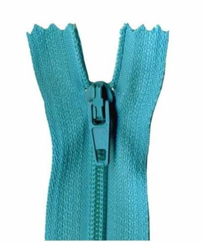 40cm Aqua Blue Dress Zip