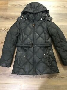89cbe7728 Details about Authentic BURBERRY London quilted down puffer jacket, Black,  XS, Fits Size 0-2