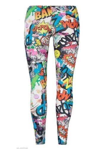 Girls Full Length Stretch Printed Leggings Kids Childrens Fancy Party Wear Pants