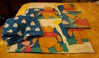 DISNEY WINNIE THE POOH & PIGLET TWIN KIDS CHILDRENS SHEET 3 pc.SET Made U.S.A.