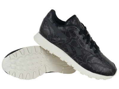 ReebokWhite Classic Leather With Snake Texture 'Baskets