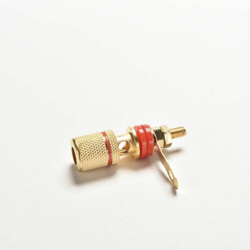 2x Amplifier Speaker Terminal Binding Post Banana Plug Connector Gold Plated Al