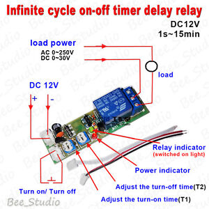 DC-12V-Infinite-Cycle-Delay-Timing-Timer-Relay-ON-OFF-Switch-Loop-Module-Time