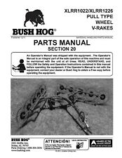 Bushhog Pull Wheel Rakes Xlrr1022 Xlrr1226 Service Parts Manual