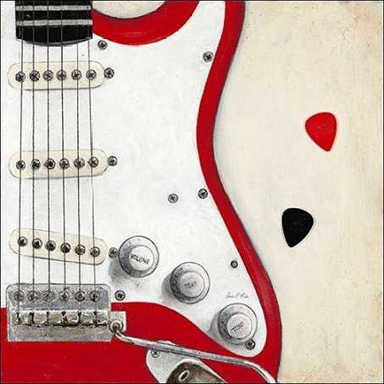 Arnie Fisk  Guitar Play Keilrahmen-Bild Leinwand Stillleben Musik Gitarre