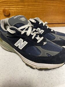 Women-s-New-Balance-993-Made-In-USA-Running-Shoes-MR993GL-Blue-Suede-Size-8-5