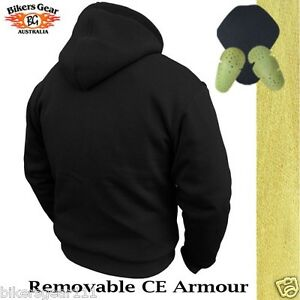Image Is Loading NEW MOTORCYCLE HOODIE FULLY REINFORCED WITH DuPont KEVLAR