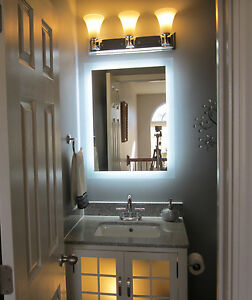 Lighted Vanity Mirror 24 Quot Wide X 32 Quot T Mam92432 Side
