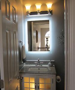 Vanity Light Wider Than Mirror : Lighted Vanity Mirror 24