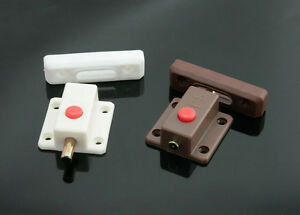 Details about Kitchen Cabinet Door Inside Latch Push to Open Slide Bolt  Lock ABS Body - LC001