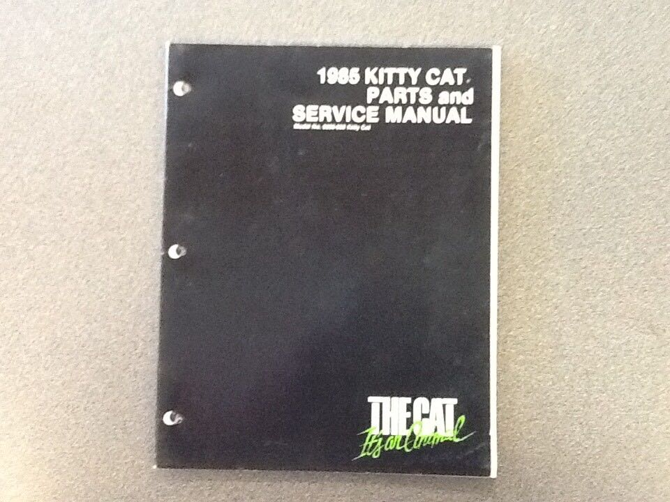 ARCTIC CAT OEM SERVICE MANUAL 1985 KITTY CAT 2254-312