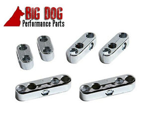 Chrome Spark Plug Wire Separators Dividers Looms Fits Chevy Ford /& Mopar