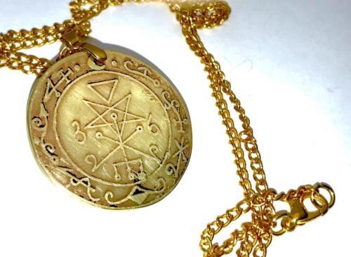 LILITH TALISMAN SOLID BRASS Demonolatry Satan Magic Goetia Occult Magick//