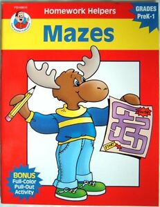 Details about KS1 Maths, Writing & English Maze Puzzle Activity Book 1,  Photocopiable Workbook