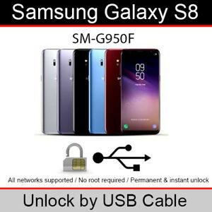 Details about Samsung Galaxy S8 (SM-G950F) USB Cable Unlock Software (1  Credit/1 Unlock)