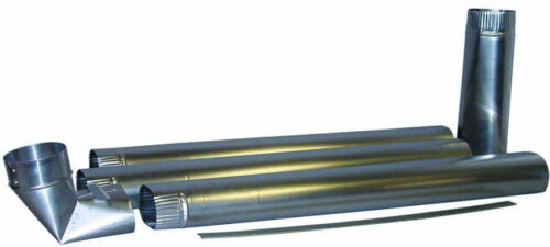 28-Gauge Aluminum Smooth Metal Duct Pipe Dryer Vent Kit In-Wall System 108 in