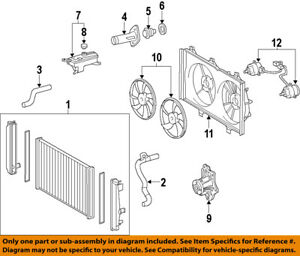 image is loading toyota-oem-07-11-camry-radiator-cooling-fan-