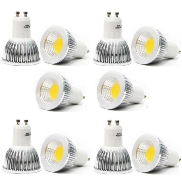 10PCS/pack GU10 6W CREE COB LED spot Light Bulb Downlight lamps silver Cool WH