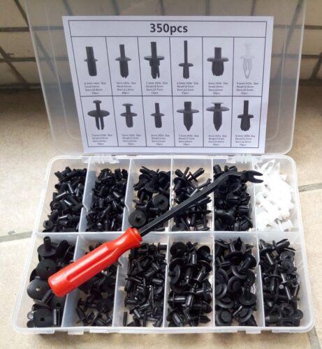 350Pcs Car Body Plastic Push Pin Rivet Fasteners Trim Moulding Clip Assortments
