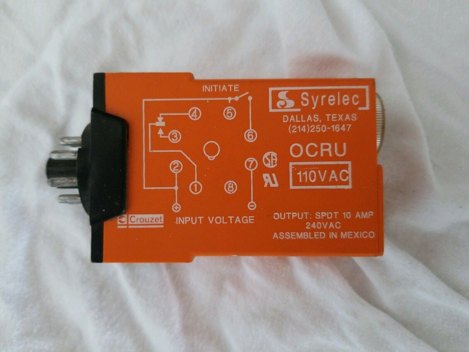 OCRU-110 VAC Syrelec Crouzet Timer Relay - 2 Available NEW