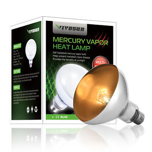 Details About Vivosun 125w 160w Watt Reptile Heat Lamp Bulb Self Ballast Uva Uvb Basking Light