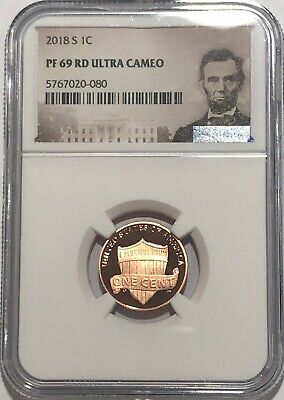 2018 S PROOF LINCOLN  PENNY NGC PF69 RD ULTRA CAMEO RED 1c PORTRAIT LABEL