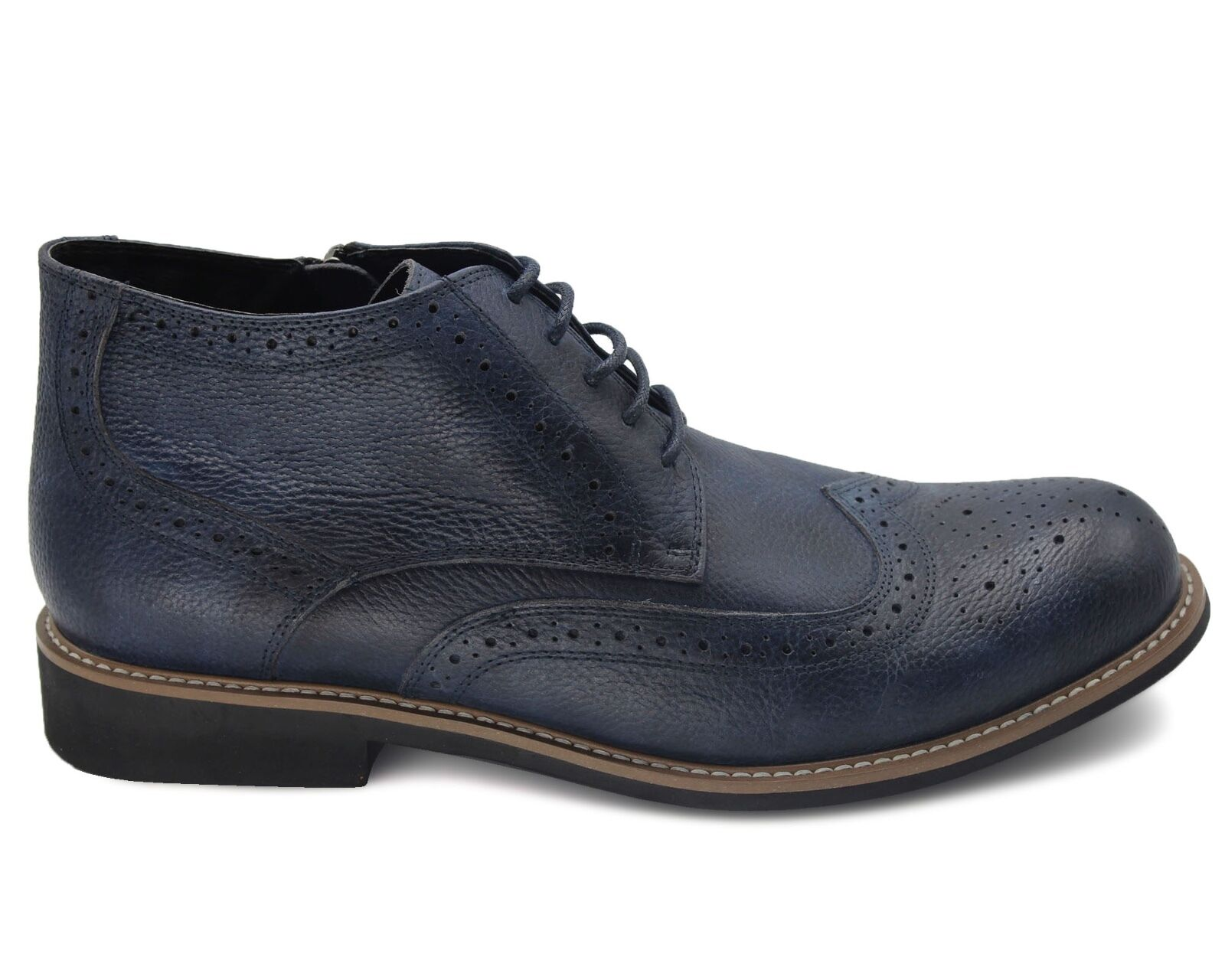 564 UK 6 NEW MENS NAVY NAVY NAVY COMBAT Stiefel REAL LEATHER WINTER FUR LINED MILITARY EU40 e7c27e