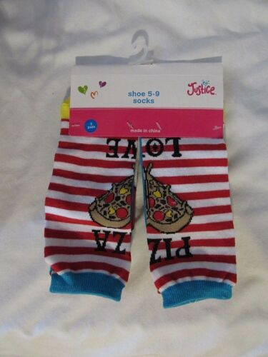 NEW JUSTICE GIRLS PACK OF 3 PAIRS ANKLE SOCKS SIZES S//M 13-5//M//L 5-9 SHOE PICK1