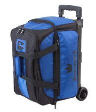 Brunswick Blitz Black/Blue 2 Ball Roller Bowling Bag