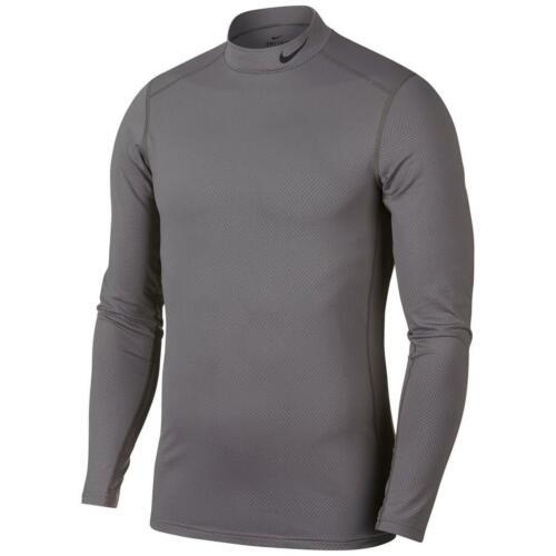 M /& XXL Nike Dry Men/'s Mock Neck Grey Chevron Print LS Thermal Top AJ6699-036