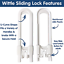 6 Pack Wittle Sliding Cupboard Locks for Children Great for Baby Proofing for