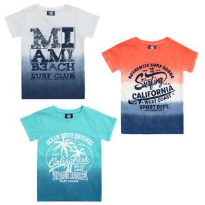 NEUF-cargo-bay-nourrisson-amp-garcon-adolescent-Dip-Dye-T-shirt-imprime-haut