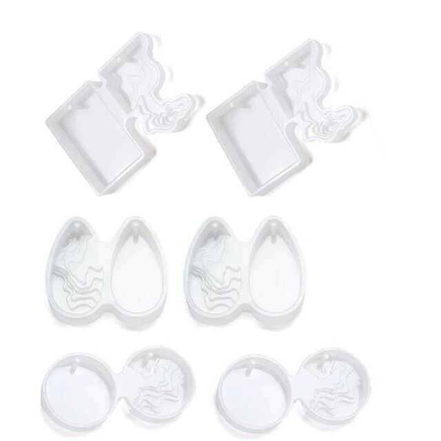 6 Pcs Island Resin Molds DIY Ocean Style Epoxy Silicone Molds For Pendant N C5W7