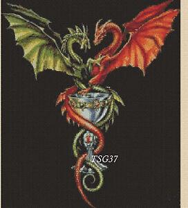 Cross Stitch Chart  Gothic Dragons and Chalice No10 TSG37 FREE UK PampP - kings lynn, Norfolk, United Kingdom - Cross Stitch Chart  Gothic Dragons and Chalice No10 TSG37 FREE UK PampP - kings lynn, Norfolk, United Kingdom