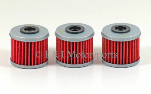 Pack of 3 2007 2008 2009 Honda TRX450R TRX450 TRX 450R 450 HiFlo Oil Filter