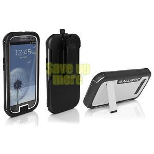 Ballistic-Every1-Case-For-Samsung-Galaxy-S-3-III-Black-White-Clip-amp-Kickstand