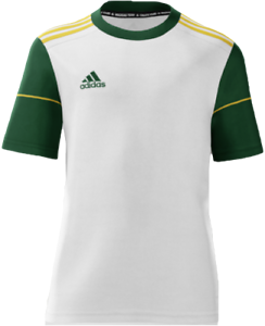 Details about Adidas Youth mi Squadra 17 Short Sleeve Soccer Jersey White Green